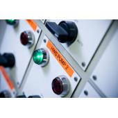 Taśma Brother TZe-B51 czarny nadruk na pomarańczowym fluorescencyjnym tle, 24mm szerokości, laminowana