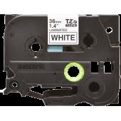 Taśma Brother TZe-261 czarny nadruk na białym tle, 36mm szerokości, laminowana