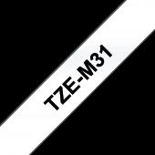 Taśma Brother TZe M31przezroczysta matowa czarny nadruk szerokość 12 mm długość 8m