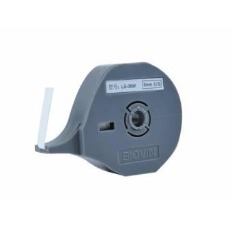 LS-06W taśma samoprzylepna biała 6 mm do drukarek oznaczników K900 i S700E