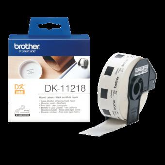 Etykiety okrągłe Brother DK11218 do drukarek etykiet QL, średnica 24mm, 1000 szt.