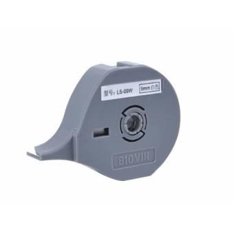 LS-09W taśma samoprzylepna biała 9 mm do drukarek oznaczników K900 i S700E