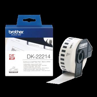 Etykiety Brother DK 22214 szerokość 12mm, taśma ciągła do drukarek etykiet Brother QL