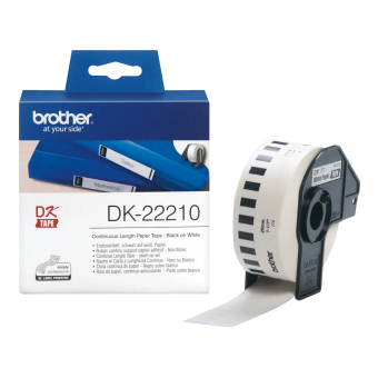 Etykiety Brother DK22210, taśma ciągła o szerokości 29 mm do drukarek etykiet QL