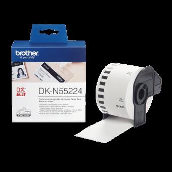 Etykiety Brother DKN55224, taśma ciągła bez kleju o szerokości 54mm do drukarek etykiet Brother QL