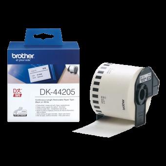 Etykiety Brother DK44205, taśma ciągła łatwousuwalna o szerokości 62m do drukarek etykiet Brother QL