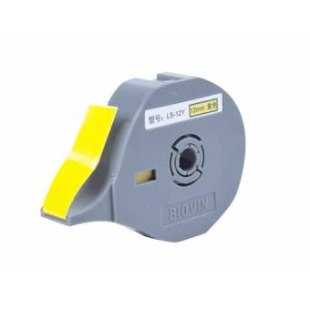 LS-12 Y Taśma samoprzylepna żółta 12 mm do drukarek oznaczników K900 i S700E