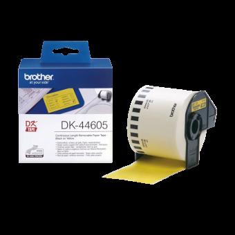 Etykiety Brother DK44605, taśma ciągła żółta o szerokości 62mm do drukarek etykiet Brother QL