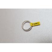 Taśma Brother TZe FX611 6mm żółta czarny nadruk laminowana elastyczna