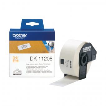 Etykiety Brother DK 11208, 38 x 90 mm, do drukarek etykiet Brother QL, 400 sztuk