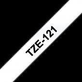 Taśma Brother TZe-121 9mm przezroczysta czarny nadruk