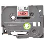 Taśma Brother TZe- 421 9mm czerwona czarny nadruk
