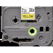 Taśma Brother TZe-621 9mm żółta czarny nadruk