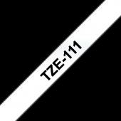 Taśma Brother TZE 111 laminowana 6mm przezroczysta czarny nadruk