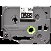Taśma Brother TZe-315 laminowana 6mm czarna biały nadruk