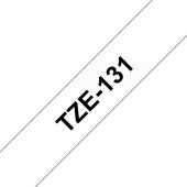 Taśma Brother TZe-131 12mm przezroczysta czarny nadruk laminowana
