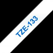 aśma Brother TZe-133 12mm przezroczysta niebieski nadruk laminowana