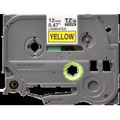 Taśma Brother TZe-631 12mm żółta czarny nadruk laminowana