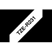 TZe-R231 Brother wstążkowa biała, czarny nadruk szer. 12mm