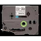 Rurka termokurczliwa Brother HSe-251, czarny nadruk na białym tle o szerokości 23.6mm