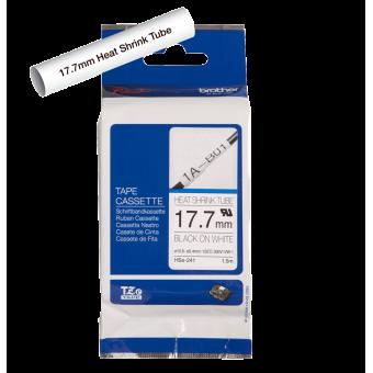 Rurka termokurczliwa Brother HSe-241 czarny nadruk na białym tle, 17.7mm szerokości