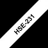 Rurka termokurczliwa Brother HSe-231, czarny nadruk na białym tle o szerokości 11.7mm