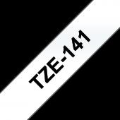 Taśma Brother TZe-141 18mm przezroczysta czarny nadruk