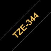 Taśma Brother TZe-344 18mm czarna złoty nadruk
