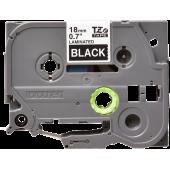 Taśma Brother TZe-345 18mm czarna biały nadruk