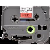 Taśma Brother TZe-451 18mm czerwona czarny nadruk