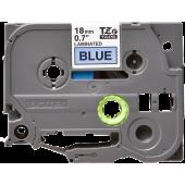 Taśma Brother TZe-541 18mm niebieska czarny nadruk