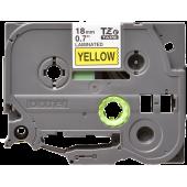 Taśma Brother TZe-641 18mm żółta czarny nadruk