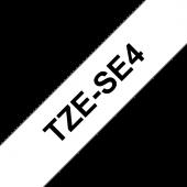 Taśma Brother TZe-SE4 plomba 18mm biała czarny nadruk