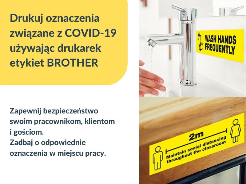 Oznaczenia bezpieczeństwa w miejscu pracy związane z COVID-19